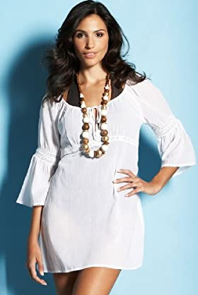Pure Cotton 3/4 Sleeve Crochet Detail Kaftan - Marks & Spencer :  beach dress marks spencer cover up