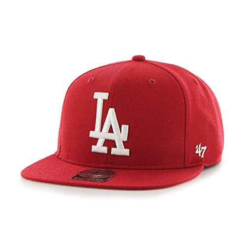 47-mlb-los-angeles-dodgers-sure-shot-47-captain-baseball-beretto-unisex-rosso-red-unica