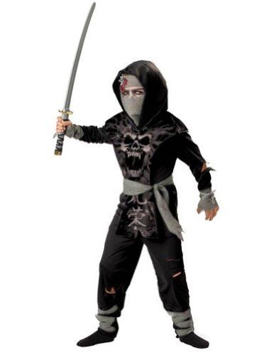 Dark Zombie Ninja Child 8 Kids Boys Costume
