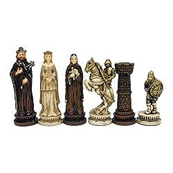 WE Games Medieval Chessmen - Handpainted