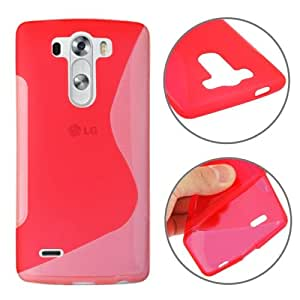 S Line Anti-skid Frosted TPU Case for LG G3 mini (Red)