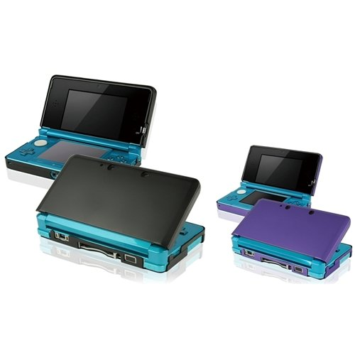 eForCity 2in1 Black+Purple Aluminum Hard Case Cover Compatible With Nintendo 3DS N3DS