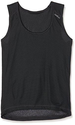 Odlo-Damen-Unterhemd-Singlet-Crew-Neck-Cubic-ebony-grey-black-S-140631