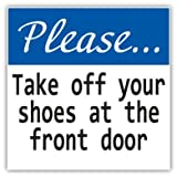 Please Take Off Your Shoes Sign Car Bumper Sticker Decal 5