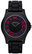 Marc by Marc Jacobs Black Sloane Silicone Ladies Watch MBM8536