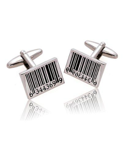 Bar Code Silver Cufflinks