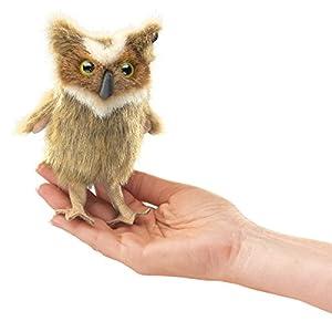 Folkmanis Mini Great Horned Owl Finger Puppet by Folkmanis