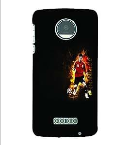 PrintVisa Sports Football 3D Hard Polycarbonate Designer Back Case Cover for Motorola Moto Z
