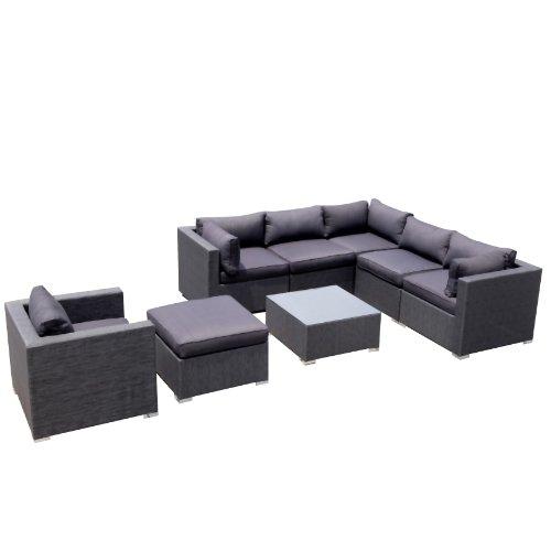 Design Garten Lounge Sofa Kampen aus Aluminium