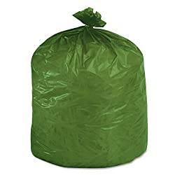 Stout EcoDegradable Bags, Extra Heavy Duty, 33 Gallons, 1.1 Milliliters, 33 x 40, Green, 40/Carton (G3340E11)