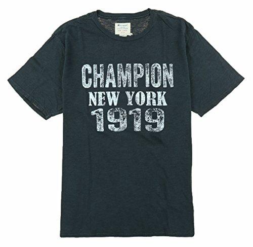 Champion Mens Vintage Tee Shirt (XL, Black)