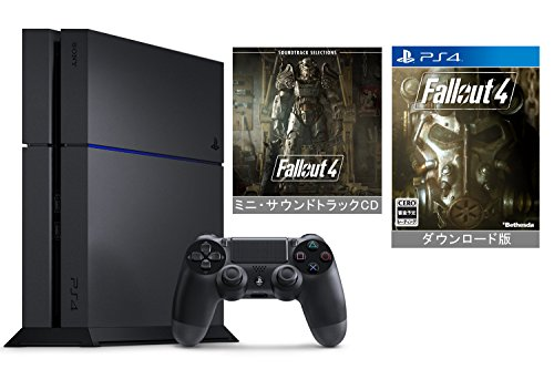 【Amazon.co.jp限定】PlayStation 4 ジェット・ブラック (CUH-1200AB01) +ダウンロード版『 Fallout 4』本編 (ミニ・サウンドトラックCD付)