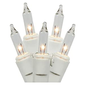 Brite Star 36601 - 50 Light 11' White Wire Clear Window-Cicle Set Light Christmas Light String Set
