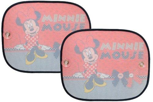 2 tlg. Set Sonnenschutz Minnie Mouse Seitenscheibe Sonnenblende für Kinder Auto Disney Mickey rot