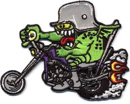 Artist Kruse New 9 Ball Chopper Biker Motorcycle Embroidered iron on Patch