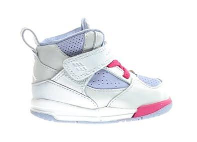 Buy Jordan Flight 45 High (TD) Baby Toddlers Basketball Shoes Metallic Platinum Arctic... by Jordan