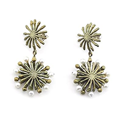 Firewheel Tree Stud Earrings by Michael Michaud