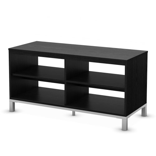 South Shore Flexible Collection Tv Stand, Black Oak photo