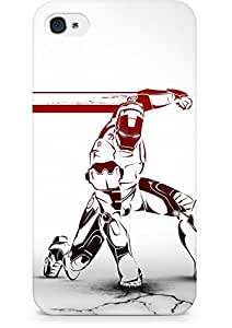Amez designer printed 3d premium high quality back case cover for Apple iPhone 4s (Iron Man Comic Art)