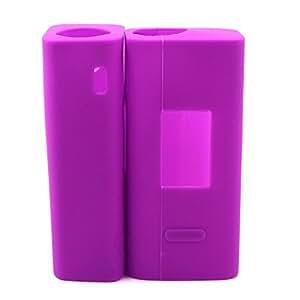NEW Anti-slip Joyetech Cuboid 150w TC Protective Soft Silicone Gel Skin Sleeve Wrap Case Cover Fashion Safe Fits Joyetech Cuboid 150w TC Box Mod (Purple)