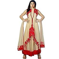 Vasu Saree Mouni Roy Integral Net Beige Resham Work Designer Suit
