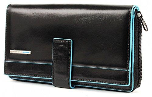 Piquadro Portafoglio donna con portamonete e carte di credito nero Blue Square PD1354B2/N