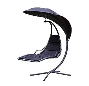 h ngeliege schaukelliege schwingliege luxus sonnenliege gartenliege schwarz garten. Black Bedroom Furniture Sets. Home Design Ideas