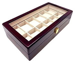 Heiden Premier Cherrywood Watch Box- 12 Watches