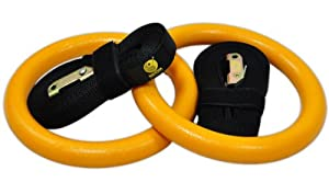 Gymnastic Rings - Premium Heavy Duty Crossfit, Gymnastics, Fitness, Exercise Rings - Gymnastics Training, Equipment- Exercise, Fitness, Bands, Straps, Rings - Home Gym Equipment - #1 Strength & Core Training Equipment- Easy to Set Up, Use, & Adjust - 60 D