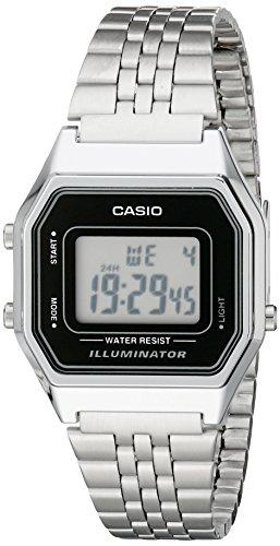 Casio Ladies Mid-Size Silver Tone Digital Retro Watch LA-680WA-1DF 0