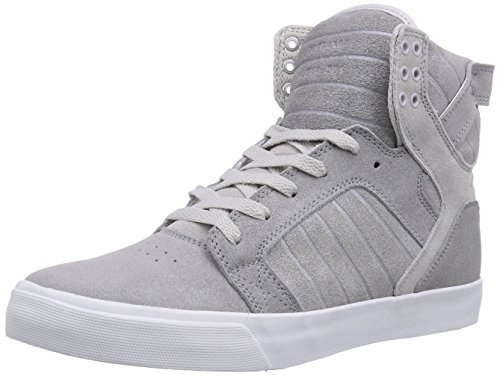 Mens Supra Skytop Silver/White 11 High-Top Sneakers S18246