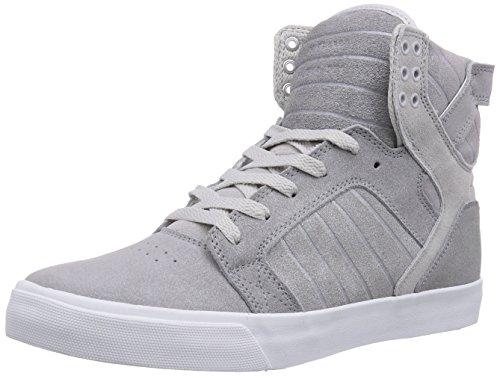 Mens Supra Skytop Silver/White 11 High-Top Sneakers S18246
