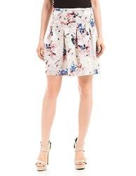 Prym Women's Skater Skirt (1011609501_White mix_Medium)