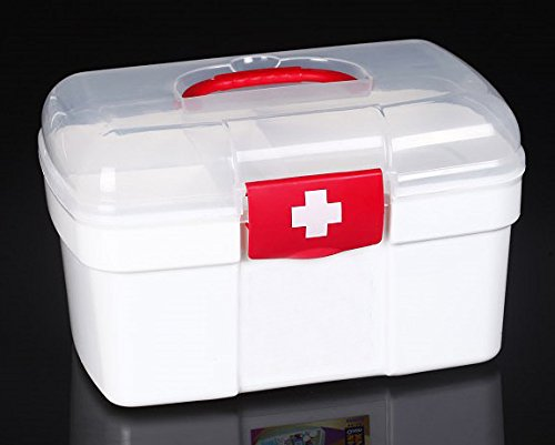 Portable Household,Outdoor, Car, Plastic Medicine Chest First Aid Kit back-466403