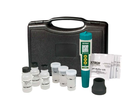 Extech EC510 Waterproof ExStik II pH/Conductivity Meter Kit