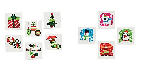 144 CHRISTMAS Themed Temporary TATTOOS/PARTY FAVORS/72 Glitter WINTER Tattoos/72 FUN HOLIDAY Glitter TATTOOS/Teachers/DOCTOR/DENTIST/Fun HOLIDAY Give-aways