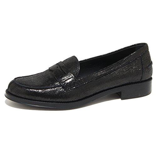 9195N mocassino TOD'S GOMMA RU nero scarpe donna loafer women [39]