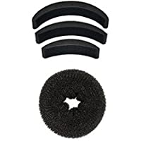 Majik Combo Of Hair Accessories Hair Puff And Hair Donut( Set Of 4 Pcs)