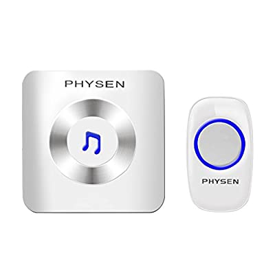 PHYSEN Doorbell Chime Features Simple Design of Door Chime and Push Button,Wireless Doorbell Kit