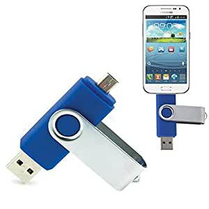 32GB Rotatable Clip OTG USB Flash Drive for Smart Phones/Tablet PCs Blue