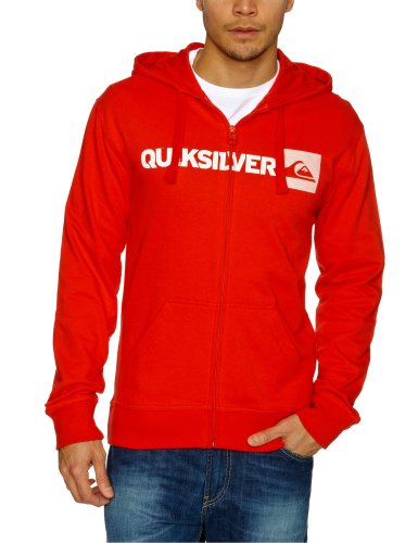 Quiksilver Summer Hood Zip Logo Men's Sweatshirt Quik Red XX-Large