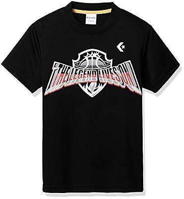 (コンバース)Converse バスケットボールウェア プリントTシャツ 18ss Cb481303 [ジュニア] Cb481303 1915 ブラックグレーモク 130
