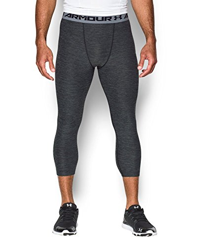 Under Armour Men's HeatGear Armour Twist ¾ Compression Leggings, Black (001), Large