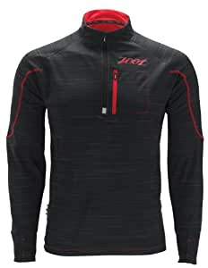 Zoot Herren Longsleeve M Performance Run Microlite Plus 1/2 Zip, Black/Red, S, 2634207.1.1