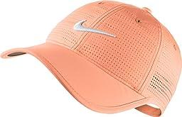 Nike Golf Women\'s Perforated Cap SUNSET GLOW/SUNSET GLOW/WHITE