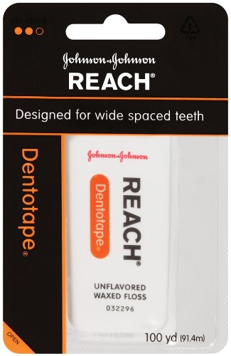 Reach Dentotape, Designed for wide spaced teeth.