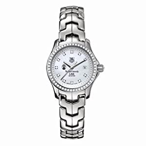 Bucknell Women's TAG Heuer Link Watch with Mother of Pearl Diamond Dial and Diamond Bezel