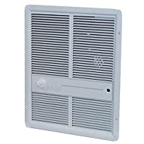Fan Forced Single - Pole 13,648 BTU ( 208v ) Wall Heater w/o Summer Fan Switch Color: White