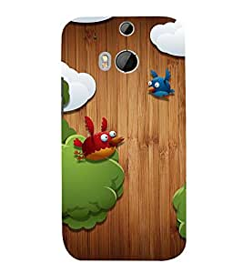 ANIMATED CARTOONISH BIRDS 3D Hard Polycarbonate Designer Back Case Cover for HTC One M8 :: HTC M8 :: HTC One M 8