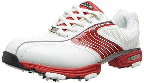 Hi-Tec Ht Sport - Scarpe da Golf Uomo, Bianco (White/Red 012), 44 EU